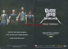"Guitar Hero Metallica ""Brace Yourself"" 2009 Magazine 2 Page Advert #4999"