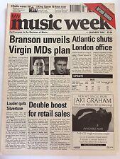 MUSIC WEEK MAGAZINE  4 JANUARY 1992  BRANSON UNVEILS VIRGIN MDs PLAN    LS