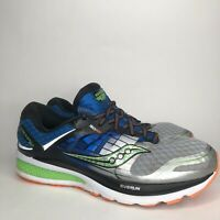 Saucony 10.5 Mens Triumph ISO 2 Running Shoes S20291-1 Wide Blue Silver Green