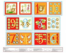 Little Reader ABC 123 Book Panel Cotton Fabric Count With Me 6479B-83