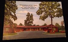 Original Vintage Postcard Birmingham Motor Court 1940's In Great Shape Roll Tide
