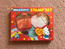 Vintage Hello Kitty Stamp Set Red Sanrio Japan 1984 NIB Friends Love Phrases