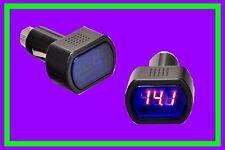 KFZ Voltmeter 12V LKW  Batterietester Spannungsanzeige LED Zigarettenanzünder