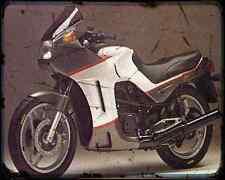 CAGIVA alzzurra 650 GT 85 2 A4 Metal Sign moto antigua añejada De