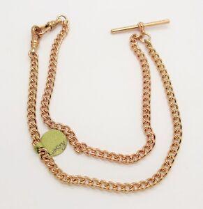 9 carat second hand rose gold victorain chain.