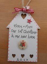 Primero Personalizado Navidad en nuevo hogar casa de árbol de Navidad Adorno