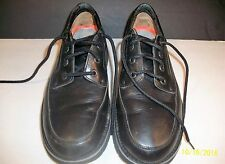 ROCKPORT BLACK LEATHER MEN SHOES...SIZE 10