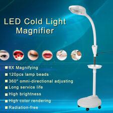 8/X Magnifying Adjustable LED Beauty Salon Cold Light Floor Tattoo Beauty Lamp
