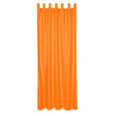 Rideau à passants polyester 245x137cm voilage occultant orange imprimé