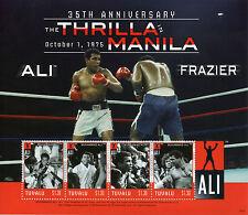 Tuvalu 2010 MNH Muhammad Ali Thrilla Manila 35th Anniv 4v M/S II Boxing Stamps