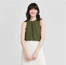 Women's Sleeveless Shell Blouse - A New Day - Green - S - C519
