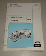Technische Information Service Training Produkt Einführung Ford Transit '92