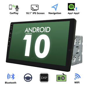 """10.1"""" Android 10 GPS Car Stereo Head unit Bluetooth WIFI DAB+ Player Double 2DIN"""