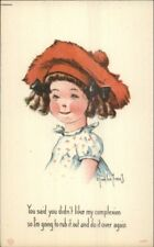 Charles Twelvetrees Little Girl in Beret Hat c1915 Postcard