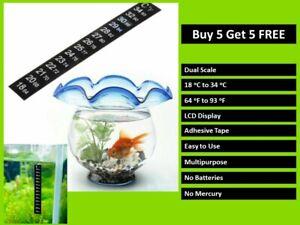 LCD ADHESIVE STRIP FLAT THERMOMETER STICK ON FOR WINDOW FISH TANK AQUARIUM