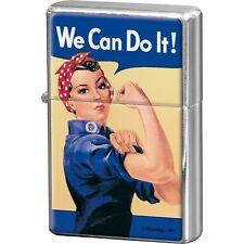 NOSTALGIE Benzinfeuerzeug WE CAN DO IT! Sturmfeuerzeug Frauen Power NEU OVP