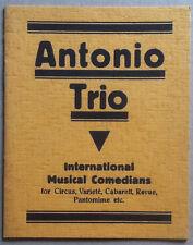 Libretto - Antonio Trio - International Musical Comedians - Circus Varieté Revue