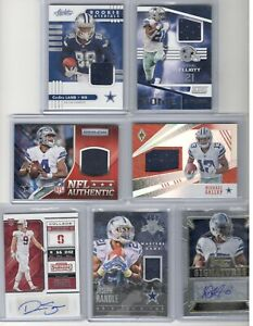 DALLAS COWBOYS AUTO JERSEY CARD LOT EZEKIEL ELLIOTT,CeeDee LAMB,DAK PRESCOTT +