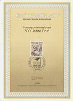 BRD ETB Ersttagsblatt 2/1990 MiNr 1445 - 500 Jahre Post Postgeschichte