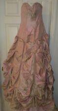CHRISTINA WU Pink Rose Quartz Wedding Dress Strapless Corset Size 6 Style 5401