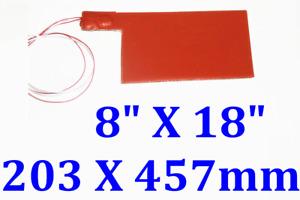 "8"" X 18"" 203 X 457mm 12V 60W w/ 3M JSR Lithium Iron Phosphate Battery Heater Pad"
