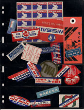 Airmail etiquette labels for covers Airlines Piedmont Eastern Capital Air France