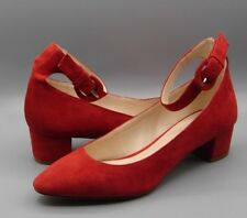 """NINE WEST"" Women/Ladies RED Suede Shoes size  UK 5.5"