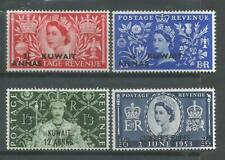 KUWAIT   1953     QEII      MLH    Coronation     SG103-106     Cat.£15