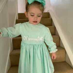DREAM 0-3 months mint lined autumn frilly baby dress