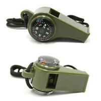 3 in1 Compass Whistle Thermometer Camping Hiking Survival Emergency Gear Outdoor