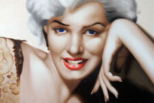 CHOP393 100% hand-painted  Marilyn Monroe portrait art oil painting on canvas