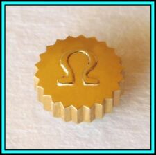 4.70mm - New Old Stock - Swiss Original Omega Crown - Goldplated & Waterproof -