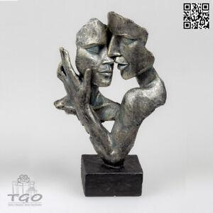 Formano Skulptur Figur Familie mit Kind Deko Weiss Silber Kunststein 747716