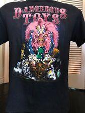 VTG Dangerous Toys Tour Shirt Sz M Skid Rock Extreme Metal Cinderella Ratt Kix