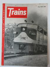 Trains 1954 07  American Locomotive Co Alco, Steam on the Monon