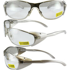 AVIS SUPRA SAFETY GLASSES GUN METAL SILVER FRAME CLEAR LENSES ANSI Z87.1