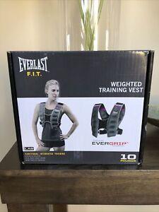 BRAND NEW Everlast FIT Weighted Training Vest Dark Gray 10 lbs