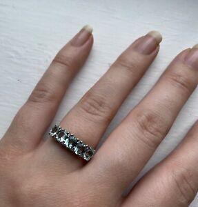 Paraiba Tourmaline & Diamond White Gold Ring with COA