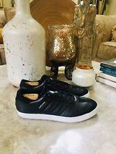 Adidas Men's BLACK Leather Golf Shoes Size 12 EVG 791003
