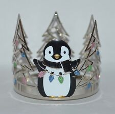 BATH & BODY WORKS SWEET PENGUIN TREES LIGHTS LARGE 3 WICK CANDLE HOLDER 14.5OZ