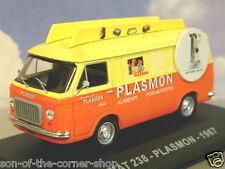 SUPERB DIECAST 1/43 ITALIAN VAN COLLECTION FIAT 238 VAN PLASMON BABY FOODS 1967