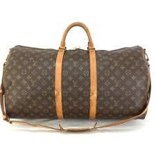 Auth Louis Vuitton Monogram Keepall Bandouliere 55 Boston Travel Hand Bag /30675