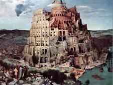 Pieter Brueghel The Elder Torre de Babel Antiguo Arte Pintura Impresión 2588OM