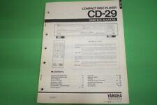 Originale Service Anleitung und Schaltplan Yamaha CD-29 CD-Spieler!!