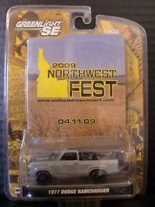 """Greenlight 1977 Dodge Ramcharger Raw Northwest Fest """"Chase"""" 1/64 Die Cast"""