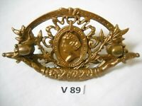 ANTIQUE VICTORIAN CAST BRASS  FIGURAL DRAWER PULL LADY  PROFILE