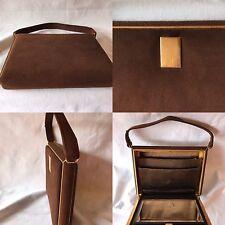 Vintage 30 S Déco Vanity Sac à main cuir de veau Rivoli GOODWOOD REVIVAL PARIS CHIC