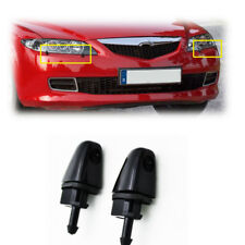 2X Front Headlight Washer Nozzle Jet For Mazda 6 M6 GG1 2002-2008 02-08 Black