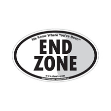 End Zone Oval Magnet - Football Fans - for car or refrigerator