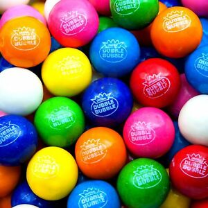 "DUBBLE BUBBLE 1"" 8 Flavor Fruit GUMBALLS 10 LBs Bulk Vending Candy gumball"